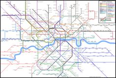 London Layout is a new visualisation of the rail transport connections within London. They were created as a result of my dissatisfaction with the expanding complexity in the official Tube map and London Connections map.