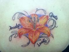 My tattoo with my kids names