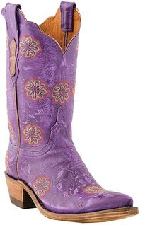 PURPLE Western Cowboy Boots...I might be able to get into cowboy boots if I had these!