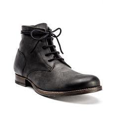 san francisco 5bc59 58089 JULIUS BASSO Boot in Nero Leather And Lace, Leather Boots, Black Leather,  Designer