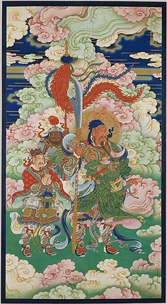"""The painting, which comes from a set of religious images used in the """"water and land"""" ritual—a Buddhist ceremony conducted for the salvation of """"all the souls on land and sea""""—is distinguished by its high level of craftsmanship, intricate detail, and lavish use of precious mineral pigments."""