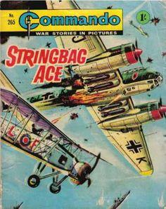 Commando: War Stories in Pictures - Stringbag Ace (Issue) Comic Book Covers, Comic Books Art, Book Art, Buck Danny, Pulp Fiction Comics, Comic Book Superheroes, War Comics, Adventure Movies, Vintage Books