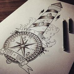 Lighthouse / Compass by EdwardMiller.deviantart.com on @DeviantArt