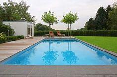 Schwimmen im Garten. Perfekt für Wellness, Sport und Familien: der klassische Pool.