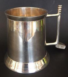 Beer Mug Golf Tournament Silver Filled w/Golf Handle    eBay