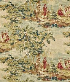 Covington Bosporus Antique Red Fabric - $18.15 | onlinefabricstore.net.  This fabric will be my dining room drapes!!