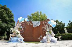 *wedding repo* 挙式の後はガーデンセレモニー✨ フォトブースも可愛くてお気に入り💕 天気も良くてよく映える😊 #フォトブース  #フォトスポット