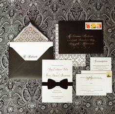 Przepis na elegancką papeterię? Biały, czarny i odrobina złotego!!!  What is the receipt for elegant stationary? Simple classic B&W!!!Biał