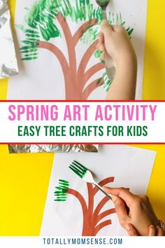 Introduce the colourful blossom trees of the spring season to your little ones with this fun and creative spring tree craft. #springcraftsforkids #easyspringcrafts #freeprintables #toddlercraftideas #preschoolercrafts #toddlercraft #springcraftideasforkids #springcrafts Kids Activities At Home, Sensory Activities Toddlers, Rainy Day Activities, Spring Activities, Easy Crafts For Kids, Toddler Crafts, Preschool Crafts, Spring Projects, Spring Crafts