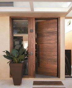 Versatility defines wooden doors as they come in a variety of styles, shapes and designs
