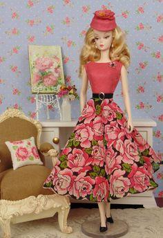 Pink Florabunda for Barbie & Victoire Roux by HankieChic on Etsy