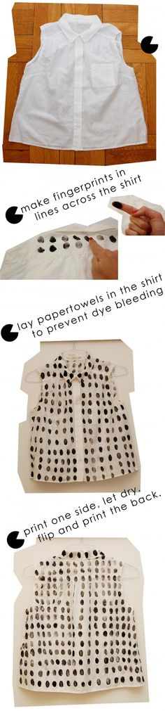 DIY fingerprint polkadot shirt!