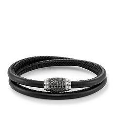 Thomas Sabo Bracelet Rebel At Heart Black Zirconia Pave Leather Thomas Sabo, Bracelet Cuir, Heart Bracelet, Bracelets En Argent Sterling, Luxury Watches, Bracelet Making, Fine Jewelry, Jewellery, Accessories