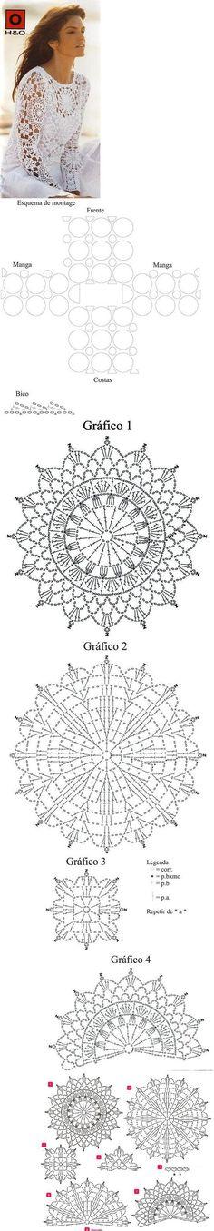 lace long sleeve motif top