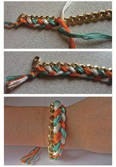 Aujourd'hui Johanna nous explique comment réaliser le fameux bracelet brésilien mais... revisité!