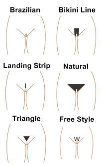 womans pubic hair styles create an amazing go to graphic for all wax styles 6050