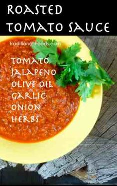 Roasted Tomato Sauce @ Traditional-Foods.com