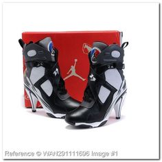 detailed look 205e8 dffad Nike. Air Jordan VIII 8 High Heel Boots Shoes - TG196EZ. Heeled Boots.