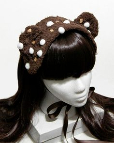 Chocolate Rocky Road Ice Cream Bear Gothic and by SheenasBellaBows, $35.00