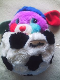 Hmmm...I wondered what my little brothers did with my Soccer Ball Popple?