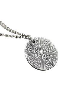 Letter Charm Chain Round Shape Pendant Necklace