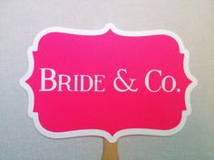 Bride & Co.  Bachelorette Photo Booth Props  by CleverMarten, $10.00
