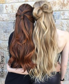 Guy Tang hair, love this brunette look with gorgeous red, orange, highlights BEAUTIFUL