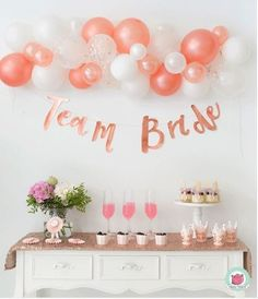 A perfectly pink, Team Bride hen party! Make the bride to be feel special with a gorgeous hen party set up! Bridal Shower Chair, Bridal Shower Backdrop, Bridal Shower Signs, Bridal Showers, Bride To Be Decorations, Hens Night Decorations, Bridal Shower Decorations, Pink Bachelorette Party, Bachelorette Party Decorations