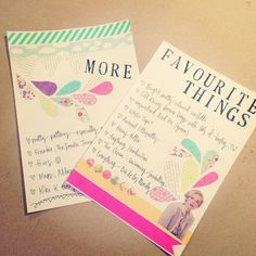 would be cute to use this sort of layout with other listy things - reasons to love/miss someone, etc.