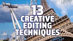 13 Creative Film and Video Editing Techniques Making Youtube Videos, Film School, Dream Job, Video Editing, Videography, Filmmaking, Digital Marketing, Infographic, Knowledge