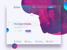 Landing page / UI Recarga minutos