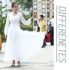 Aliexpress.com   Buy Free Shipping 2014 New long white dress vestido branco  Dress V Neck Latest Dress Design Autumn Long Dress White For Women from  Reliable ... b0c2f1e271ef