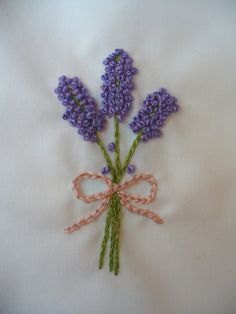 Super Easy Lavender Embroidery Embellishment
