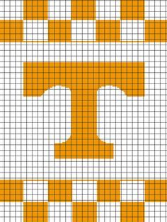 University of Tennessee Graphghan Pattern (Chart/Graph AND Row-by-Row Written Instructions)