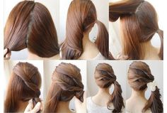 Triple-layer side ponytail!