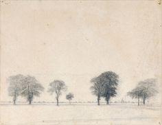 Vilhelm Hammershøi (1864-1916), The Kongevejen (King's Road) near Gentofte, north of Copenhagen, 1892