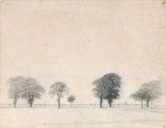 Vilhelm Hammershøi (1864-1916), The Kongevejen (King's Road) near Gentofte, north of Copenhagen, 1892, Fondation Custodia, Paris.