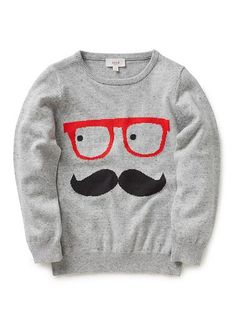 Boys Knitwear & Jumpers | Intarsia Face Jumper | Seed Heritage