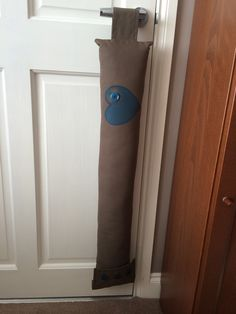 Living Room Draught Excluder. Hearts And Buttons. July 2014