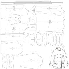 Chaqueta cocinero M 6803   Camisas   UNIFORMES   Patrones Industriales de  Moda ac2f6f9377e98