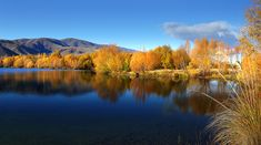 Heading to New Zealand? Don't miss out on Twizel, the largest town and easily the most exciting place around! Explore things to do in Twizel! New Zealand Landscape, Dusk, Wilderness, Pond, Free Images, The Good Place, Things To Do, Sunrise, Explore