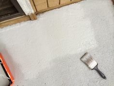How I Made My Patio Look New Again with Olympic Rescue It! Cleaning Concrete Patios, Clean Concrete, Concrete Floors, Concrete Resurfacing, Painting Concrete, Patio Makeover, Home Repairs, Home Projects, Make It Yourself
