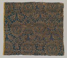 Textile with Brocade Date: 14th century Geography: Made in Egypt Culture: Egyptian Medium: Silk, metal thread Accession Number: 46.156.41