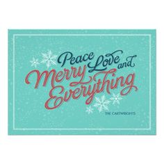 Gift Ribbon Script Holiday Card