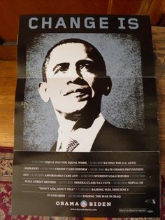 This mini-poster sent out to supporters features a list of the Obama Administration's first-term accomplishments