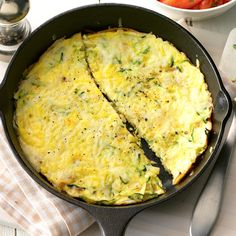 When we travel by car, I make the frittata the night before, stuff it into pita bread in the morning and microwave for a minute or two before I wrap them in a towel so down the road we enjoy a still-warm breakfast! Zucchini Frittata, Zucchini Breakfast, Free Meal Plans, Egg Dish, Sugar Free Recipes, Dessert, Meals For Two, Casserole Recipes, Quiche Recipes