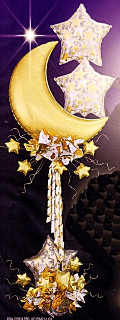 Moon and stars balloon column. Great for a New Years party.