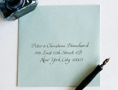 Anne Robin - Calligraphy | Anne Robin: Los Angeles Calligrapher, Hand Written Calligraphy, Wedding Invitations Esther
