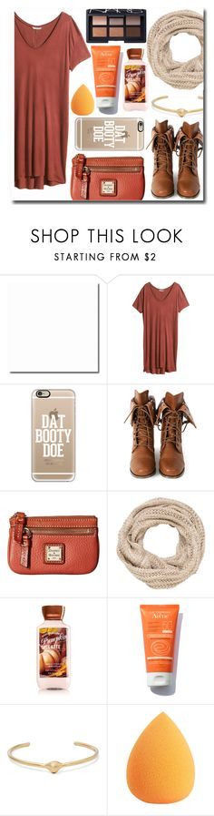 """Pumpkin Spice"" by sweetcheeksgurl8 ❤ liked on Polyvore featuring H&M, Casetify, Wild Diva, Dooney & Bourke, maurices, Jennifer Fisher, NARS Cosmetics, Fall, BobbiBrown and 2016"