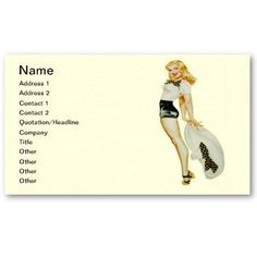 Retro pin up girl business card templates pin up girl business zazzle sale vintage retro pin up girl blonde with huge hat business card colourmoves Choice Image